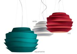 Wholesale Foscarini Le Soleil Wave cm White Rose Suspension Simple Style Pendant Lamp Aluminium Chandelier Droplight Light E27 Light Fixtures