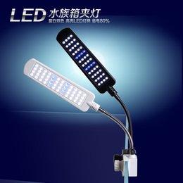 Wholesale LED light mini nano clip white blue touch control v v aquarium water plant fish tank