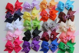 Free shipping 50pcs 3.5 inches wing hair bows toddler hair bows hair bows for toddler toddler bows cute bows for girl