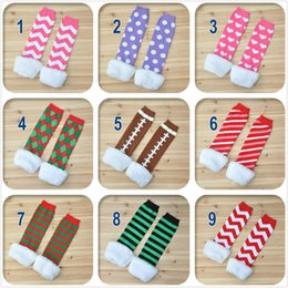 Promotion 2016 New Fashion Faux Fur Christmas Leg Warmers for Infants and Toddlers kids children leg warmers