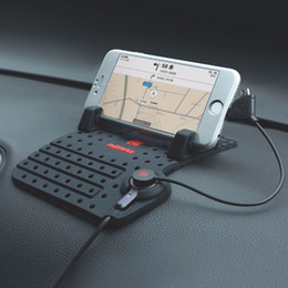 Universal Adjustable Silicone Non-Slip Car GPS Phone Tablet Stand  Holder Mount Free Shipping