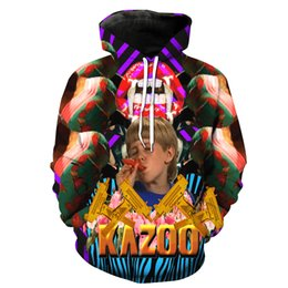 Free Shipping US Size M-5XL High Quality Fall New Digital Printing Customized 3D Crazy Teenager Hooded Sweatshirt Sweater