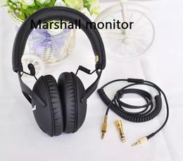 Hot Selling Marshall Headphones DJ Studio Headphones Deep Bass Noise Isolating headset Monitorring With Mic&Remote Stereo Earphones earbuds