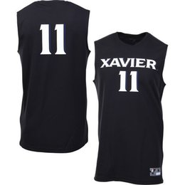 Wholesale NO Xavier Musketeers Men College Jersey Embroidery Athletic Outdoor Apparel Mens Sport Jerseys Size S XL