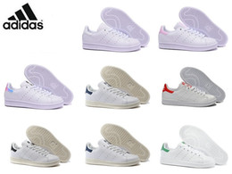 Wholesale Adidas Originals Stan Smith Suede Men And Women Running Shoes Original Casual Sneaker Black Red Discount Size Cheap