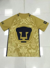 Wholesale Mexico american club Yellow thai quality soccer jerseys Discount Cheap top football jersey tops new top Major League Team Soccer Wear