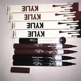 Wholesale Hot Kylie Jenner Black Brown Liquid Eyeliner Long lasting Waterproof Eye Liner Pencil Pen Nice Makeup Cosmetic Tools Kylie