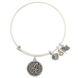 Wholesale Initial A to Z Charm Wiring Expandable Bracelet Alex and Ani Bangles Adjustable Christmas Gift