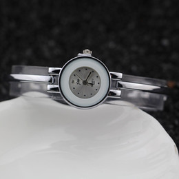 Free shipping,silver plating alloy round case,metal bracelet style band,plastic ring on case,jw fashion woman lady bracelet watches,3327