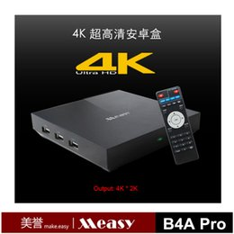 Wholesale Measy B4A Pro Smart TV Box Android Kitkat Amlogic S802 AML8726 M8 Quad Core G G K K HDMI Output XBMC Blue ray player Kodi