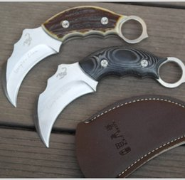 Wholesale Knifes Hunting Tactical Scorpion Fixed Blade Buck Knives Survival Tools Scabbard Outdoor Camping Buckhorn Pocket Knives Tactical Military