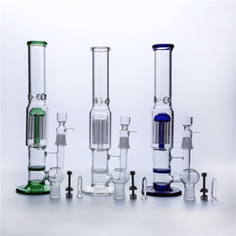 """Glass Bong Glass Water pipe Glass Oil Rig Glass Bubbler 13""""inch Glass Water Bong Two Function Can For Tobacco And Oil Rig"""