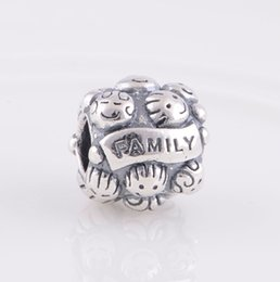 FAMILY LOVE CHARM DIY Beads Real Solid 925 Sterling Silver Not Plated Fits Original Pandora Bracelets & Bangles & Necklaces