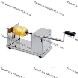 Wholesale Stainless Steel Manual Spiral Twister Tornado Potato Cutter Slicer with L Deep Fryer and Bamboo Skewers