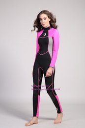 Wholesale 3mm high end femals one piece long sleeve diving wetsuit women warm keeping snorkelling surfing wear water sports wetsuit