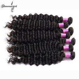 Promotion 24 profonds faisceaux de cheveux bouclés Peruvian Deep Wave Violet cheveux Bundles 10 Pcs / Set cheveux bouclés profond 100% non traitées Péruvien Remy cheveux humains