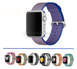 Wholesale iWatch Watch Band Nylon Weave Strap mm mm with Adapter Metal Clasp for Apple watch iwatch with OPP BAG
