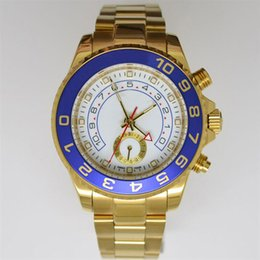 Luxury Blue Ceramic Bezel Male Golden Mens Stainless Steel Wristwatches Green Boxes Papers Wholesale modern Men Automatic Mechanical Watches