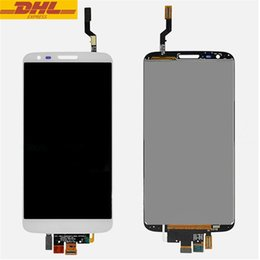 Wholesale For LG Optimus G2 D800 LCD Display Touch Screen Digitizer Assembly Cell Phone Touch Panels LCD Screen Replacement DHL Freeshipping