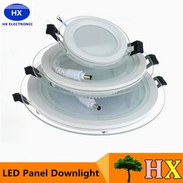 Promotion dans la lumière conduit 6w 6W 12W 18W Led downlights verre Fixture ronde anti-brouillard bas lumière 110-240V lumières du panneau LED cool / blanc chaud