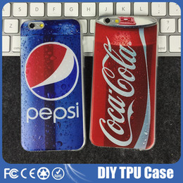 Wholesale Pepsi Coca Cola Iphone Case TPU Backcover Ultra Thin Case Soft Gel Silicone Case for iPhone s se s Plus cases