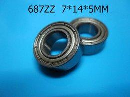 687ZZ ABEC-5 cojinetes 10pcs del sello del metal que envían libremente 687 687Z 687ZZ 7 * 14 * 5m m cojín profundo del surco del acero del cromo desde rodamientos 5mm proveedores