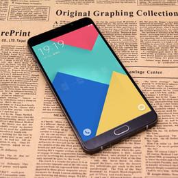 Wholesale Unlocked Goophone A9 Metal Bumper inch Smartphone Quad Core MTK6580 Andriod G RAM G ROM Smart Phones
