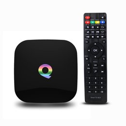 Wholesale Latest Q box Internet TV Box G G TV Boxes Android S905 Quad Core android stick Support Youtube Facebook Online Movies Channels