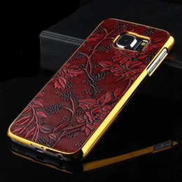 Wholesale For Galaxy S7 S6 edge plus note phone case Electroplate Hard Retro Flower Grapes Golden Veneer Gluing Design Shell