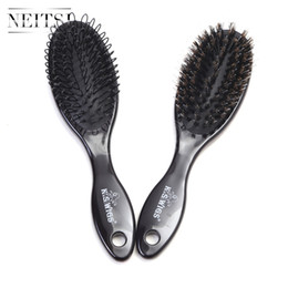 Neitsi Cheap Hot Sell Professional Hair Salon Brush Black High Quality Tangle Free Hair Brush 2pcs set