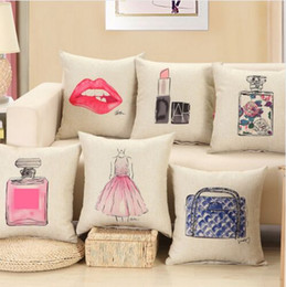 Wholesale Cotton Filling Pillow - fashion red lips cushion without inner lipstick home sofa decorative throw pillow no filled designer