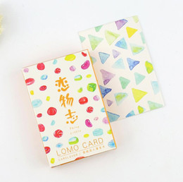 Wholesale pack The Little Beautiful Things Mini Lomo Greeting Card Postcard Birthday Letter Envelope Gift Card Set Message Card