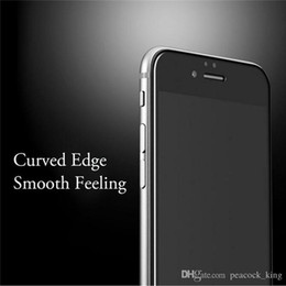 Wholesale Aluminum alloy Full screen coverage tempered glass For iphone S Splus For apple iphone D Curved Edge protective film