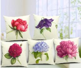 Wholesale Euro Style Home Decor Cushion Cover Throw Pillows Sofa Char Seat Vintage Flowers Cushion Cover for Sofa Decorative Pillow Cover
