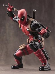 Wholesale 13CM Marvel Superhero Deadpool ARTFX SATATUE Scale Pre Painted Model Kit PVC Action Figure Collection Toy