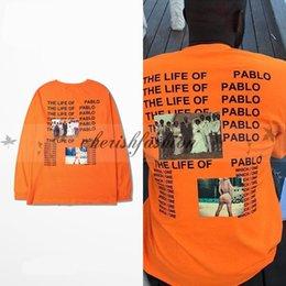 Wholesale Kanye West The I Life Of Pablo Kanye Yeezus Hip Hop T shirt Men Summer Brand Clothing T Shirt I feel like Pablo Kanye Orange Tee Z297 B