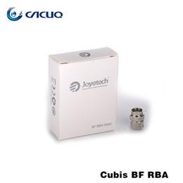 E Cigarette Vape Head Authentic Joyetech Cubis RBA Coils 0.5ohm BF RBA Head For Joyetech Cubis Vaporizer Tank