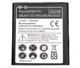 Haute qualité Galaxy S3 Mini batterie étendue téléphone mobile avec étui pour la batterie Samsung Galaxy S3 Mini AKKU ACCU 3500mAh à partir de prolongée boîtier de la batterie de galaxie fournisseurs
