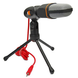 Wholesale Mini Professional Condenser Sound Podcast Studio Microphone Online Chat Mic Stand Mount for Skype MSN PC Laptop QQ