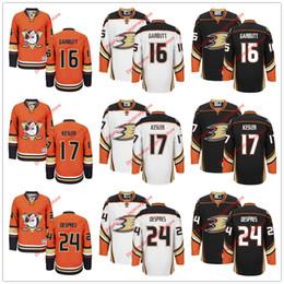 Wholesale Custom NHL Ice Hockey Anaheim Ducks Jerseys Ryan Garbutt Ryan Kesler Simon Despres White Orange Black Stadium Series