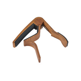 Wood Grain Guitar Capo Perfect for Acoustic Guitar With Aluminum Material -Rose Wood