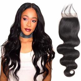 Human Hair Virgin Hair Closure Brazilian Hair Lace Closure 8-20inch Body wave Closure Natural Color With
