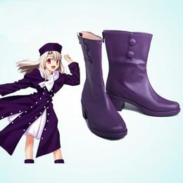 HOT COS Fate Stay Night Iriya Einzbern Cosplay Purple Accessories Boots Cosplay Shoes Customize Halloween Chrismas