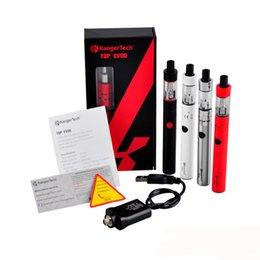 Original Kanger Topevod Starter Kit Electronic Cigarette with black white red silver top evod vape Ecigarette