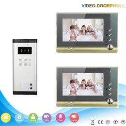 Wholesale Hot sale champagne metal case inch intercom system for multi apartment