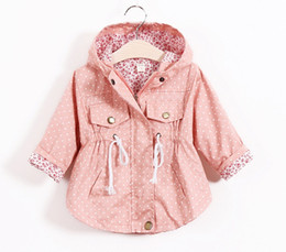 Spring Autumn girls Jackets New 2016 Korean version Brand Fashion Polka Dot Bat shirt Coat 5pcs lot Children Hoodies 4COLOR FREE FEDEX SHIP