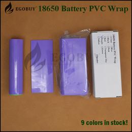 Wholesale 100pcs battery PVC mm wrap Heat Shrink Re wrapping for high brain batteries sony vtc4 vtc5 vtc6 samsung r LG he4 hg2