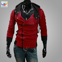Wholesale colors M XL Hoodies Men Sweatshirt Male Tracksuit Hooded Jacket Casual Sports Male Hooded Jackets moleton Assassins Creed