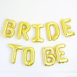 Wholesale 16 quot BRIDE TO BE Gold silver foil balloon bachelorette party wedding decoration wedding event party supplies