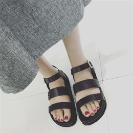 Wholesale The new sandals women summer Han edition flat thick bottom Roman low restoring ancient ways with female students joker for women s shoe